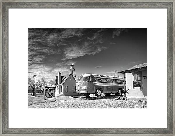Bob Wills And The Texas Playboys Tour Bus Turkey Tx Framed Print