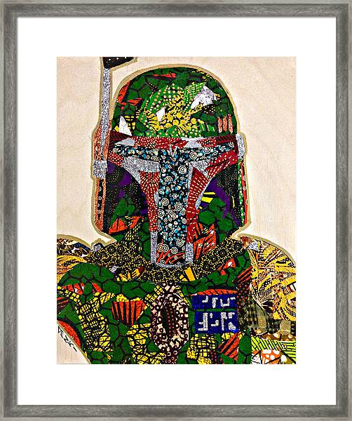 Boba Fett Star Wars Afrofuturist Collection Framed Print