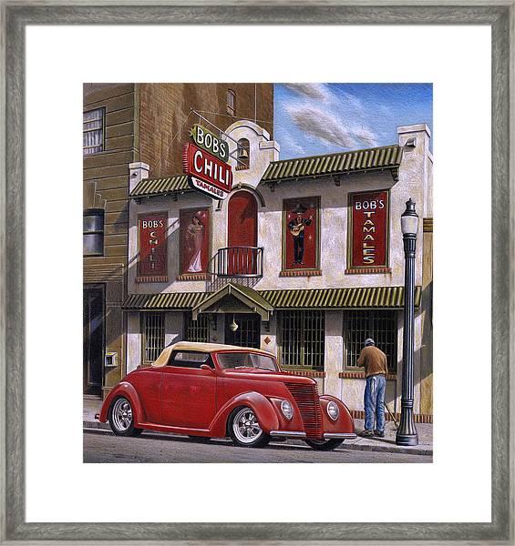 Bob's Chili Parlor Framed Print