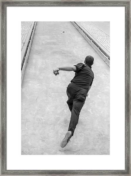 Bocce Ball Framed Print