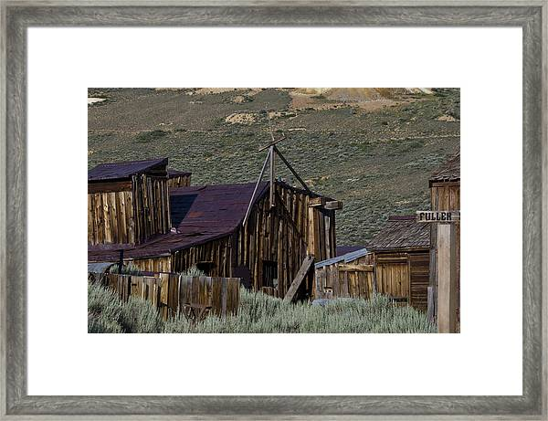 Framed Print featuring the photograph Bodie 33 by Catherine Sobredo