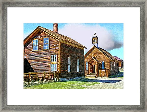 Bodie Church Stylized Eastern Sierra Photo Framed Print