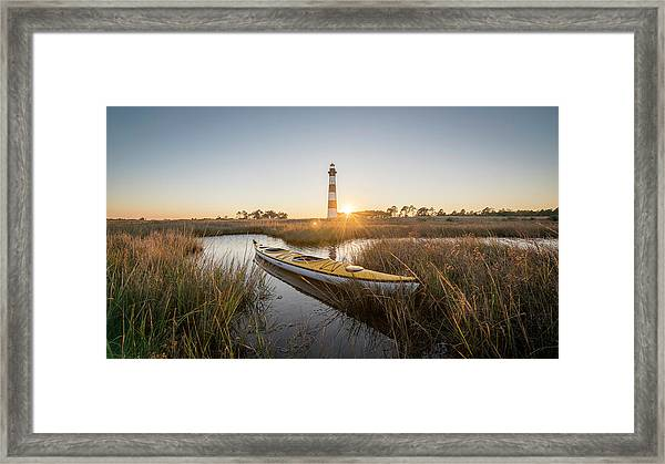 Bodie Island Kayak Framed Print by Michael Donahue