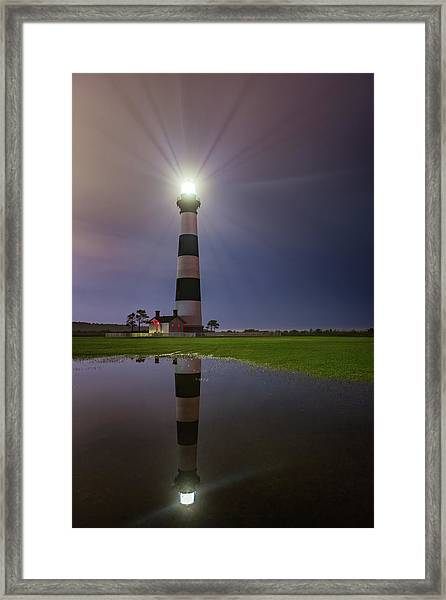 Bodie Island Lighthouse Reflection Framed Print