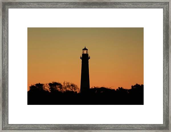 Bodie Light At Sunset Framed Print