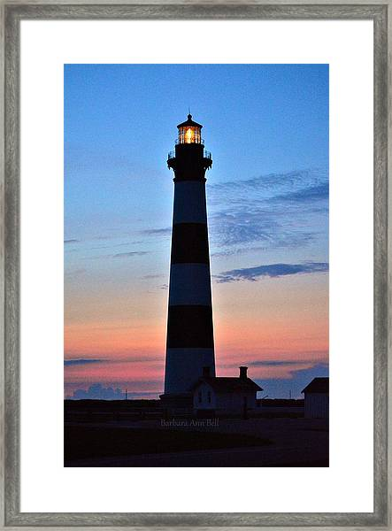 Bodie Lighthouse 7/18/16 Framed Print