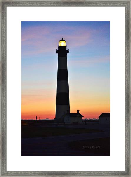 Bodie Lighthouse At Sunrise Framed Print