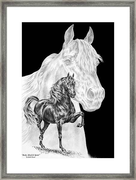 Body Mind And Spirit - Morgan Horse Print  Framed Print