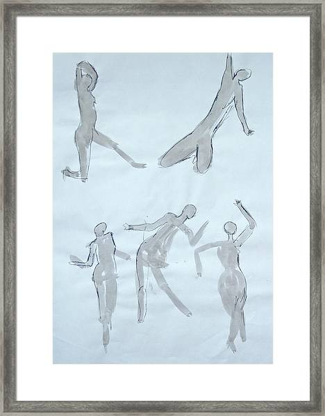 Body Sketches Framed Print