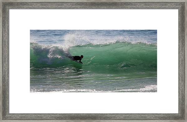 Body Surfer Framed Print