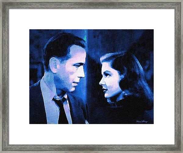 Bogart And Bacall - The Big Sleep Framed Print