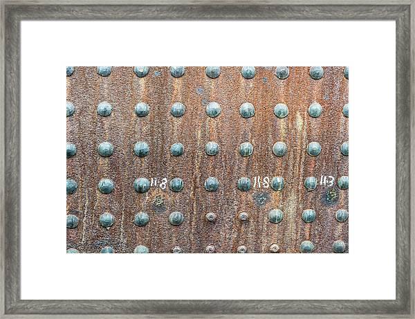 Boiler Rivets Framed Print
