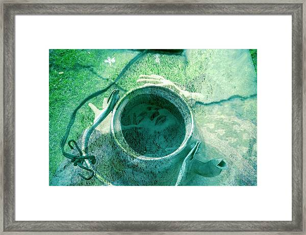 Boiling Through The Cracks Framed Print by Ash Soomro-Irani