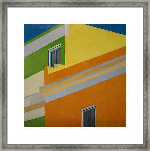 Bokaap Green Framed Print