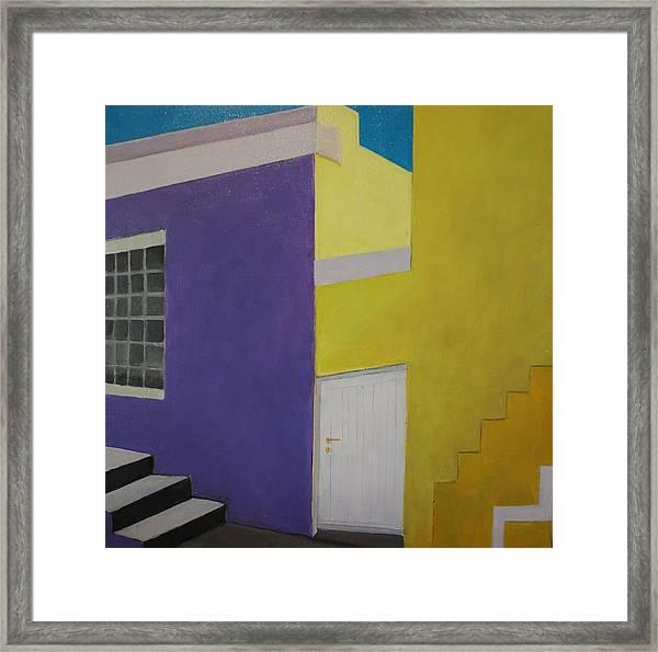 Bokaap Purple Framed Print