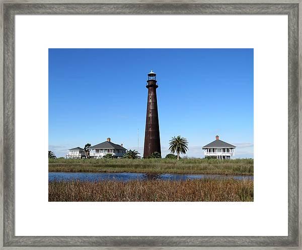 Bolivar Point Lighthouse Framed Print