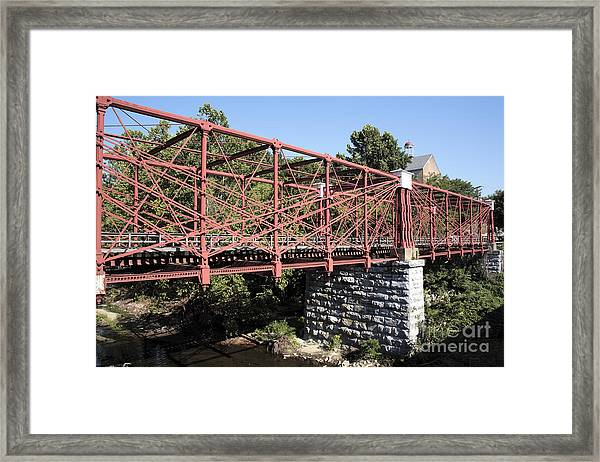 Bollman Truss Bridge At Savage In Maryland Framed Print