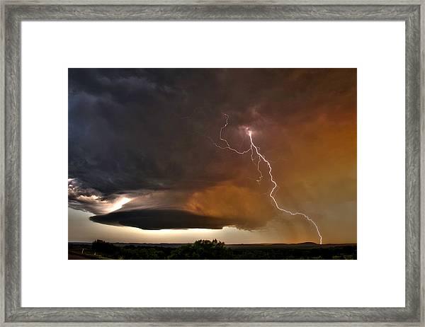 Bolt From The Heavens. Framed Print