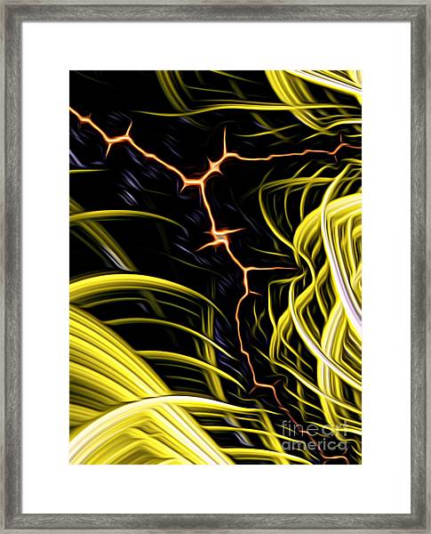 Bolt Through Framed Print