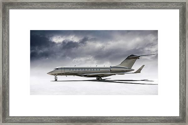 Bombardier Global 5000 Framed Print