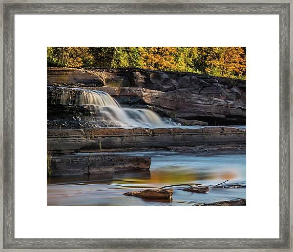 Bonanza Falls - Big Iron River, Silver City, Mi Framed Print
