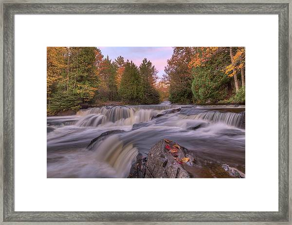 Bond Falls Sunset Framed Print