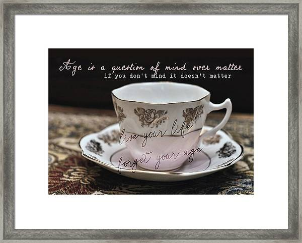 Bone China Quote Framed Print by JAMART Photography