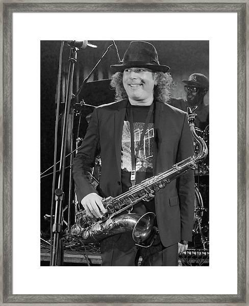 Boney James Smiling At Hub City '17 Framed Print