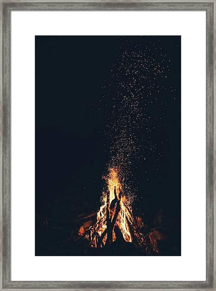 Framed Print featuring the photograph Bonfire by Toa Heftiba