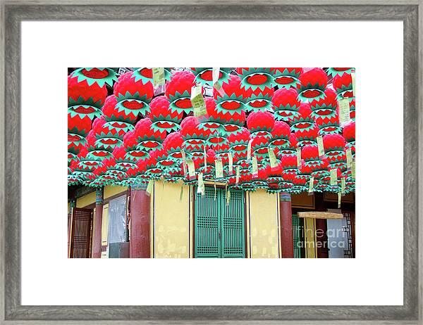Bongeusa Temple In Seoul Framed Print