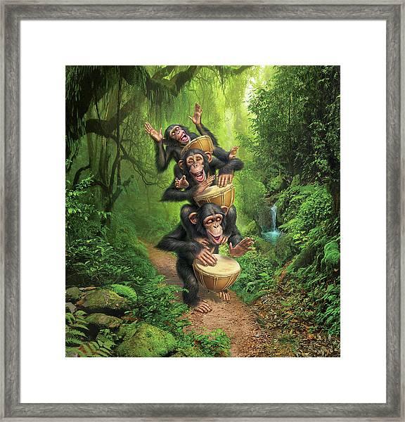 Bongo In The Jungle Framed Print