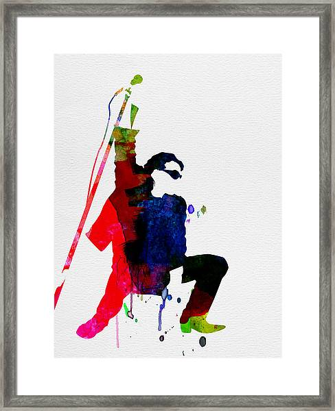 Bono Watercolor Framed Print