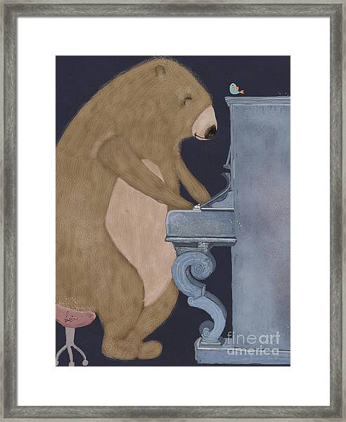 Boogie Bear  Framed Print