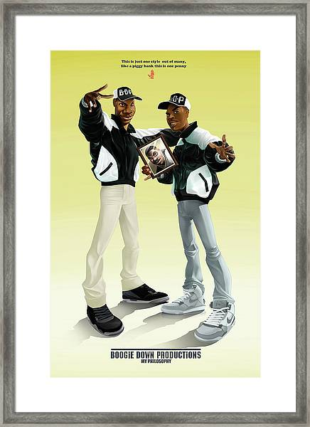 Boogie Down Productions Framed Print
