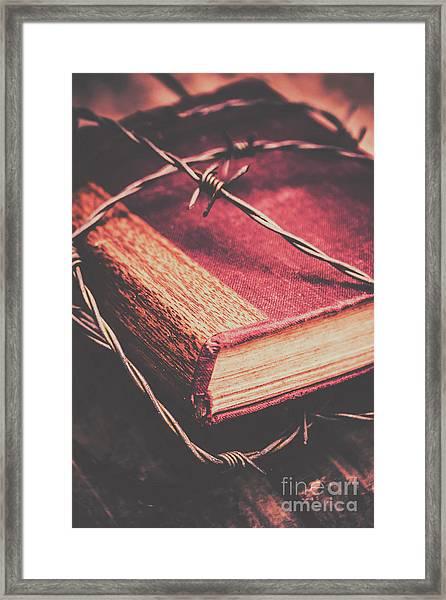 Book Of Secrets, High Security Framed Print