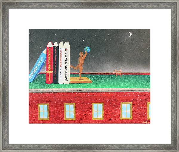 Books Of Knowledge Framed Print