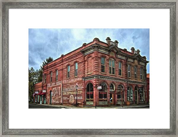 Boomtown Saloon Jacksonville Oregon Usa Framed Print