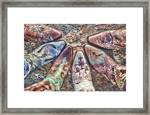 Boot Fan Framed Print