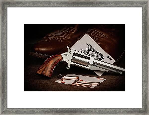 Boot Gun Still Life Framed Print