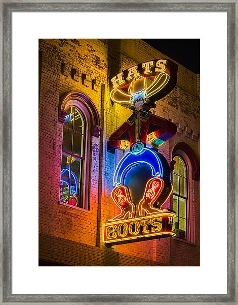 Boots And Hats Framed Print