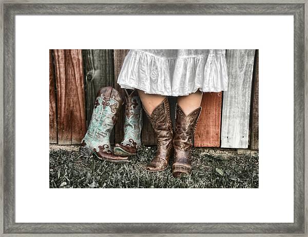 Boots X 2 Framed Print