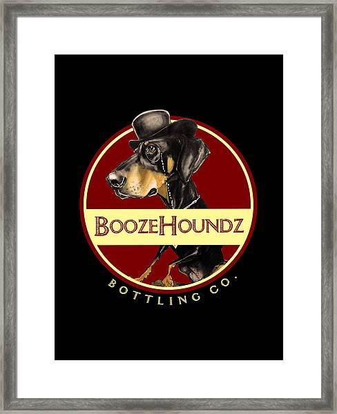 Boozehoundz Bottling Co. Framed Print
