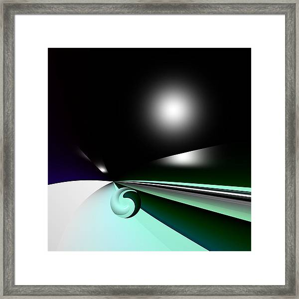 Borderling Framed Print