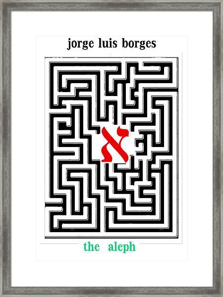 Borges' Aleph Poster Framed Print