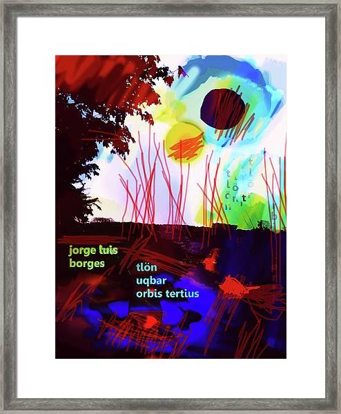 Borges Tlon Poster 2 Framed Print