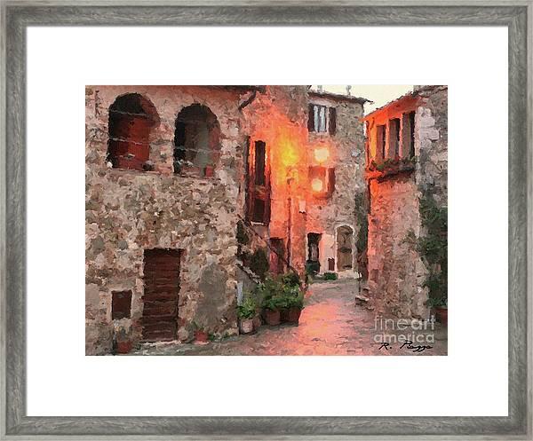 Borgo Medievale Framed Print