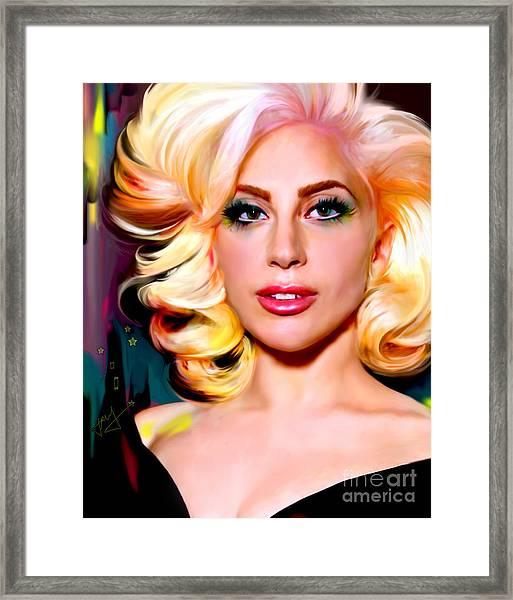 Born This Way, Lady Gaga Framed Print