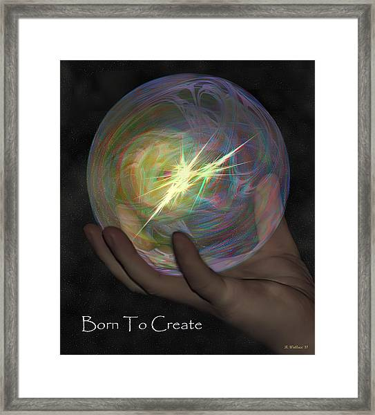 Born To Create - View With Or Without Red-cyan 3d Glasses Framed Print