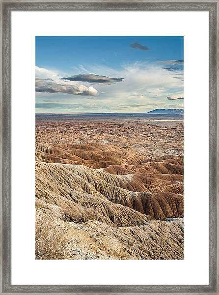 Borrego Badlands Framed Print