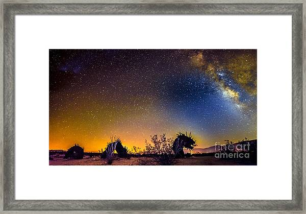 Borrego Springs Dragon Framed Print